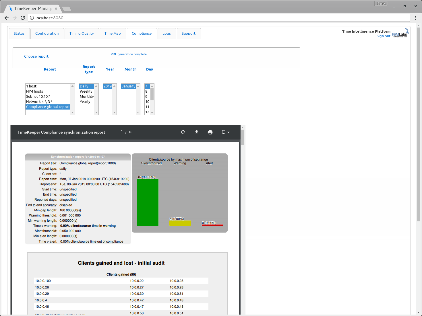 Compliance overview and setup